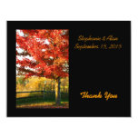 Fall Colors Country Wedding Thank You Card