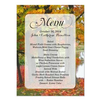 Fall Colors Custom Wedding Menu 6.5x8.75 Paper Invitation Card