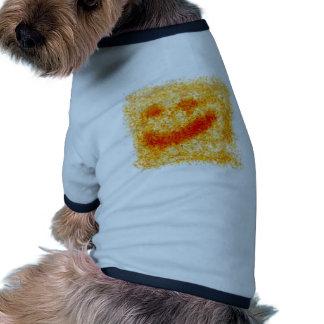 Fall colors face dog t shirt