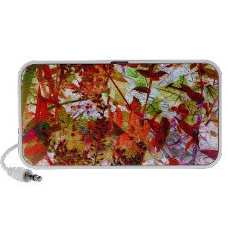 Fall Colors Foliage Flowers Garden Art Photograph Notebook Speaker