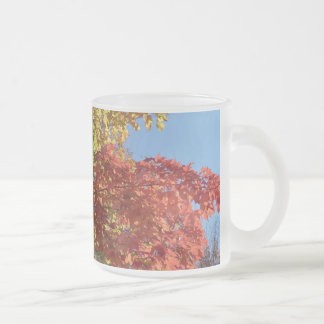 Fall Colors Frosted Glass Coffee Mug