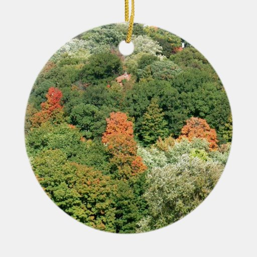 Fall Colors : HIGH PARK Toronto Double-Sided Ceramic Round Christmas Ornament