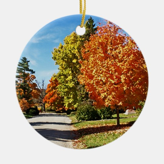 Fall Colors in Cincinnati Ceramic Ornament