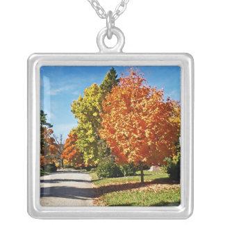 Fall Colors in Cincinnati Personalized Necklace