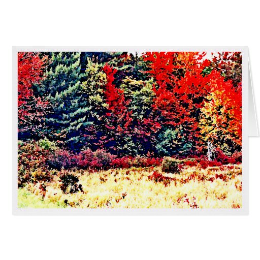 Fall Colors in New England Stationery Note Card