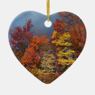 Fall Colors in the Blue Ridge Mountains Ceramic Ornament
