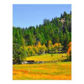 fall colors letterhead zazzle