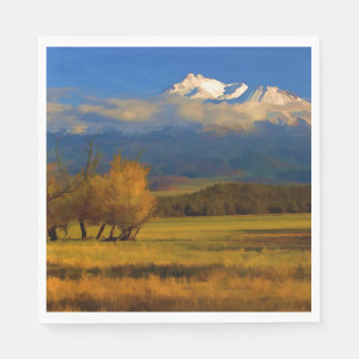 FALL COLORS IN THE SHASTA VALLEY PAPER NAPKIN
