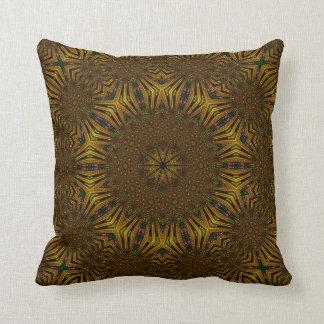 Fall colors kaleidoscope design pillow