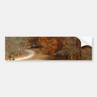 Fall Colors Landscape Autumn Trees Leaves Deer Bumper Sticker