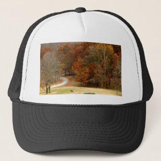 Fall Colors Landscape Autumn Trees Leaves Deer Trucker Hat
