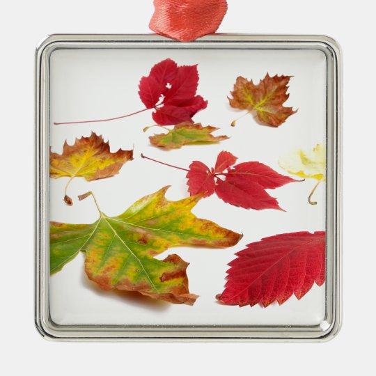 Fall colors metal ornament