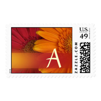 Fall colors monogram - Letter A Postage Stamp