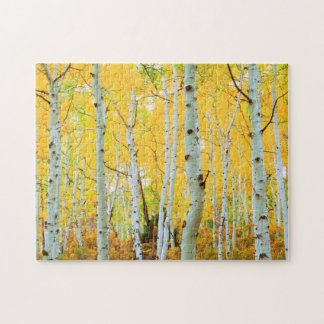 Fall colors of Aspen trees 1 Puzzle