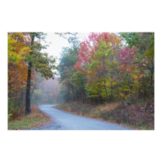 Fall colors on Massanutten Mountain scenic drive Photo Print