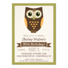 Fall Colors Owl, Adult Birthday Party Card