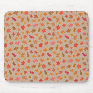 Fall Colors Pattern Art Mouse Pad