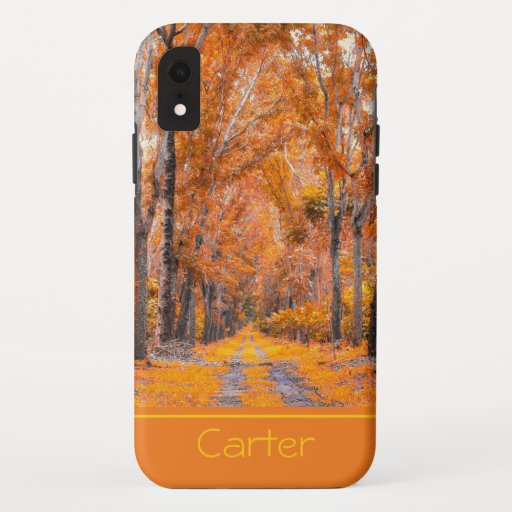 Fall Colors Personalized iPhone XR Case