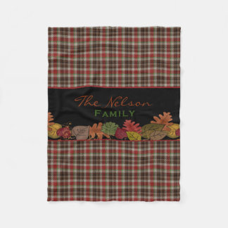 Fall Colors Personalized Fleece Blanket