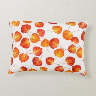 Fall Colors Quaking Aspen Leaf Prints Accent Pillow