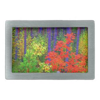 Fall colors rectangular belt buckle