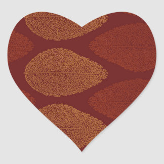 Fall Colors Remembered Heart Sticker
