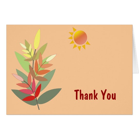 Fall Colors Thank You Card