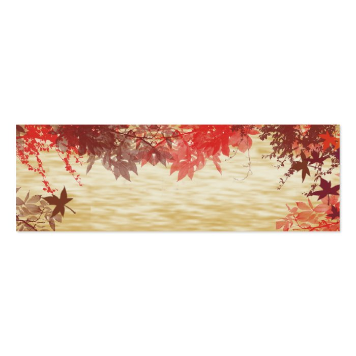 Fall Colors: Thanksgiving Placecard Mini Business Card