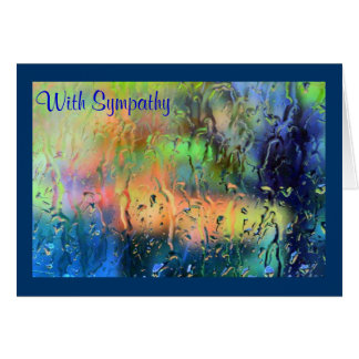 Fall Colors Through a Rainy Window - Sympathy Card