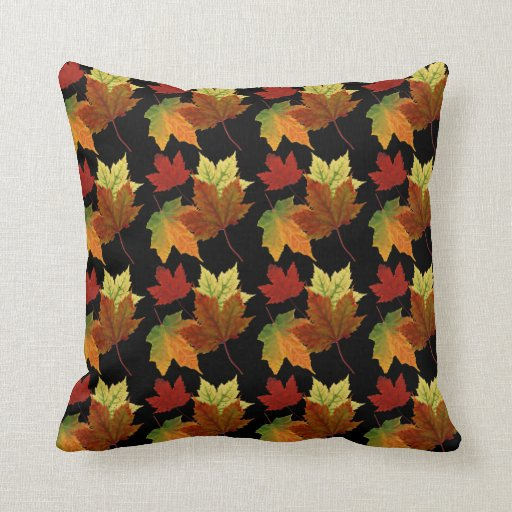 Decorative Pillows For Fall : Fall Colors Throw Pillow Zazzle