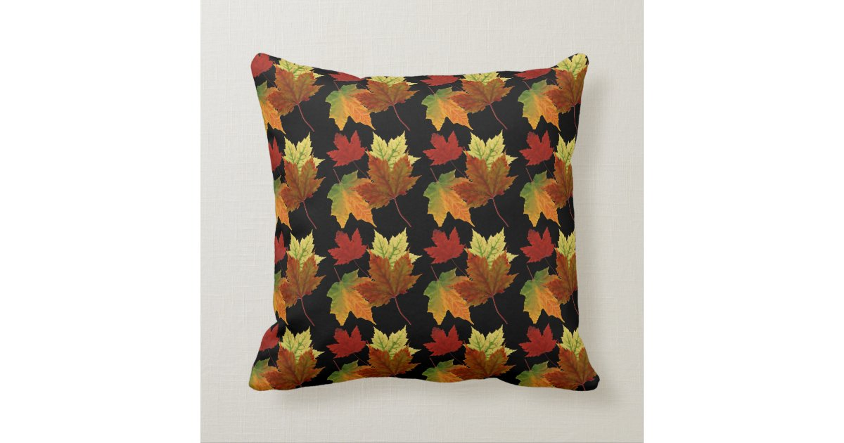 Fall Colors Throw Pillow Zazzle