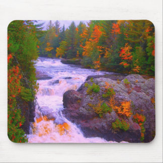 Fall Colors Waterfall Mouse Pad