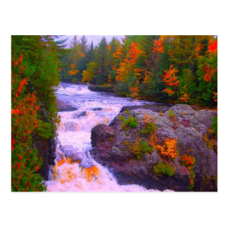 Fall Colors Waterfall Postcard