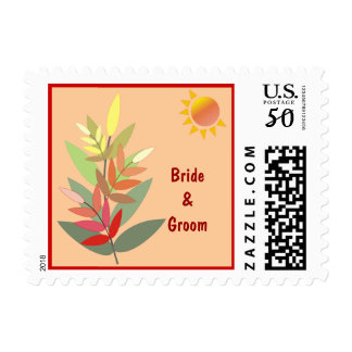 Fall Colors Weddding Postage
