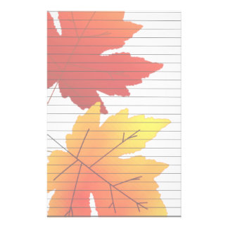Fall Colors With Lines Stationery