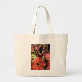 fall colours bouquet jumbo tote bag