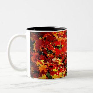 Fall Colours in Watercolour Two-Tone Coffee Mug