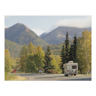 Fall Comes To The Chugach Mountains in Alaska Post Poster