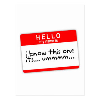 fall conocido de la etiqueta tarjetas postales