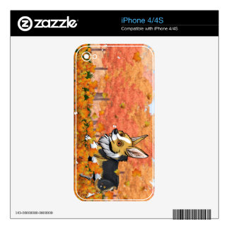 Fall Corgi Decals For iPhone 4S
