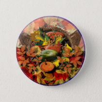 Fall Cornucopia Button
