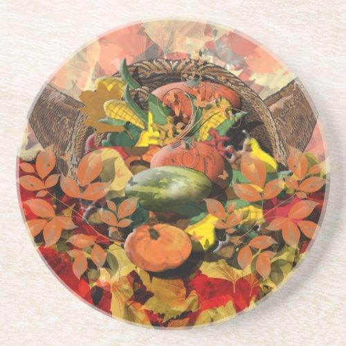 Fall Cornucopia Coaster