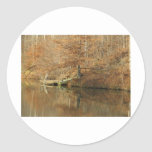 Fall Country Fishing Classic Round Sticker