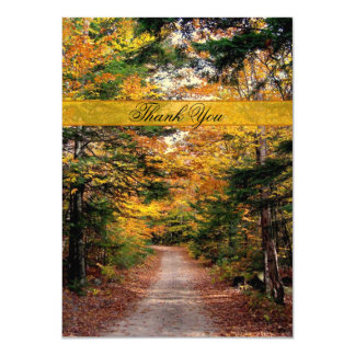 Fall Country Road Thank You Note Card
