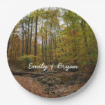 Fall Creek at Laurel Hill State Park Paper Plate