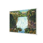 Fall Creek Gorge View, Ithaca Falls Scene Stretched Canvas Print