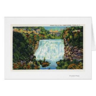 Fall Creek Gorge View, Ithaca Falls Scene Greeting Card