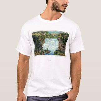 Fall Creek Gorge View, Ithaca Falls Scene T-Shirt