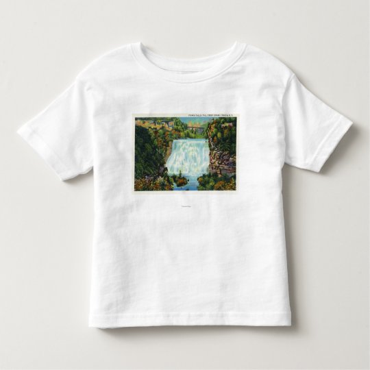Fall Creek Gorge View, Ithaca Falls Scene Toddler T-shirt