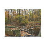 Fall Creek with Reflection at Laurel Hill Park Doormat